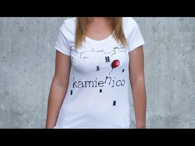 DIY: Kamień i co hand made t-shirt tutorial