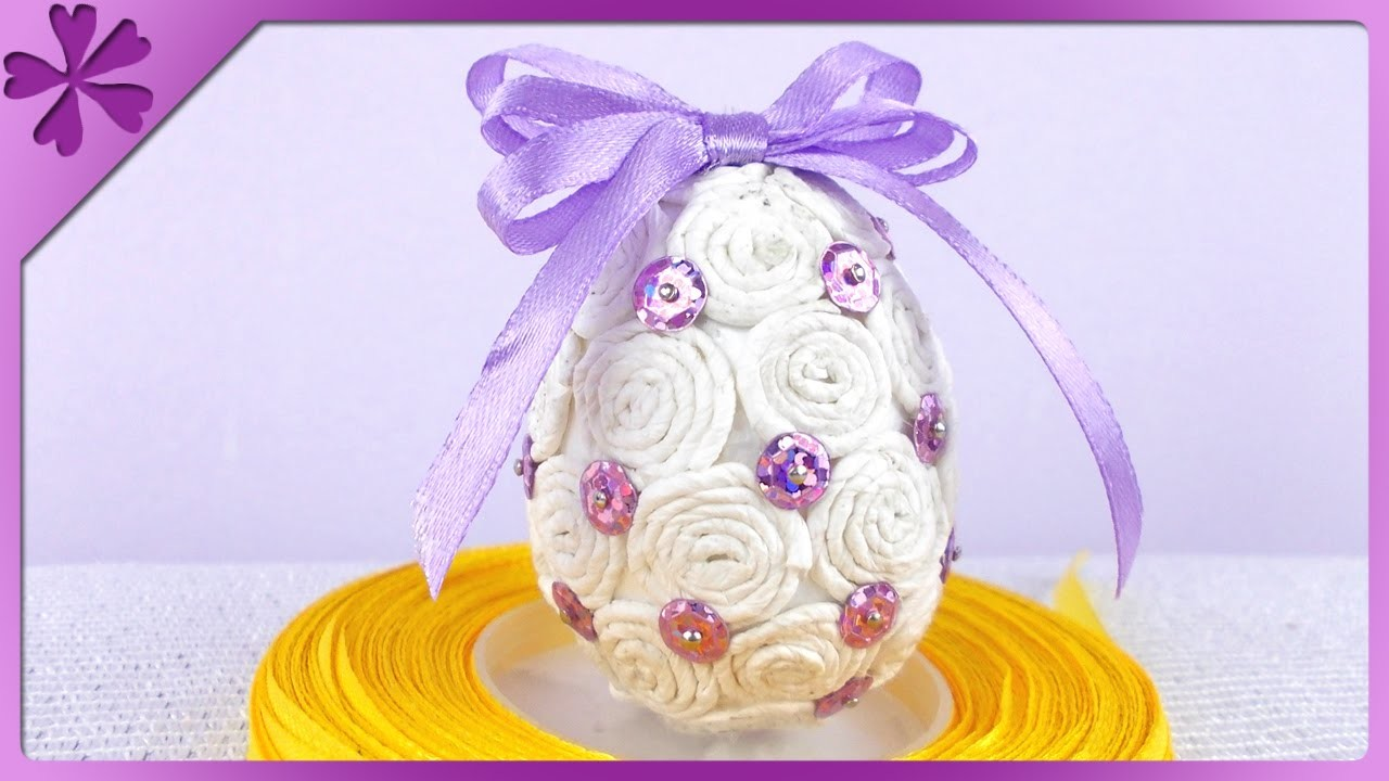 DIY Pisanka z bibuły. Tissue paper Easter Egg (+ENG Annotations) - Na szybko #77