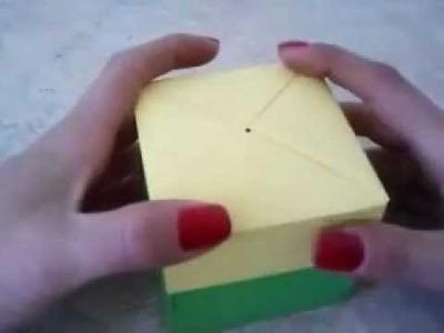 Jak wykonać czworokątne pudełko z wieczkiem?