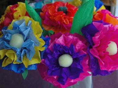Jak zrobić kwiaty z bibuły. Tissue flowers DIY