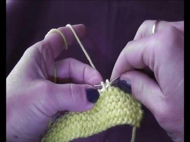 Knitting Stricken - Abketten durch Zusammenstricken. Dzierganie: zakonczenie robotki