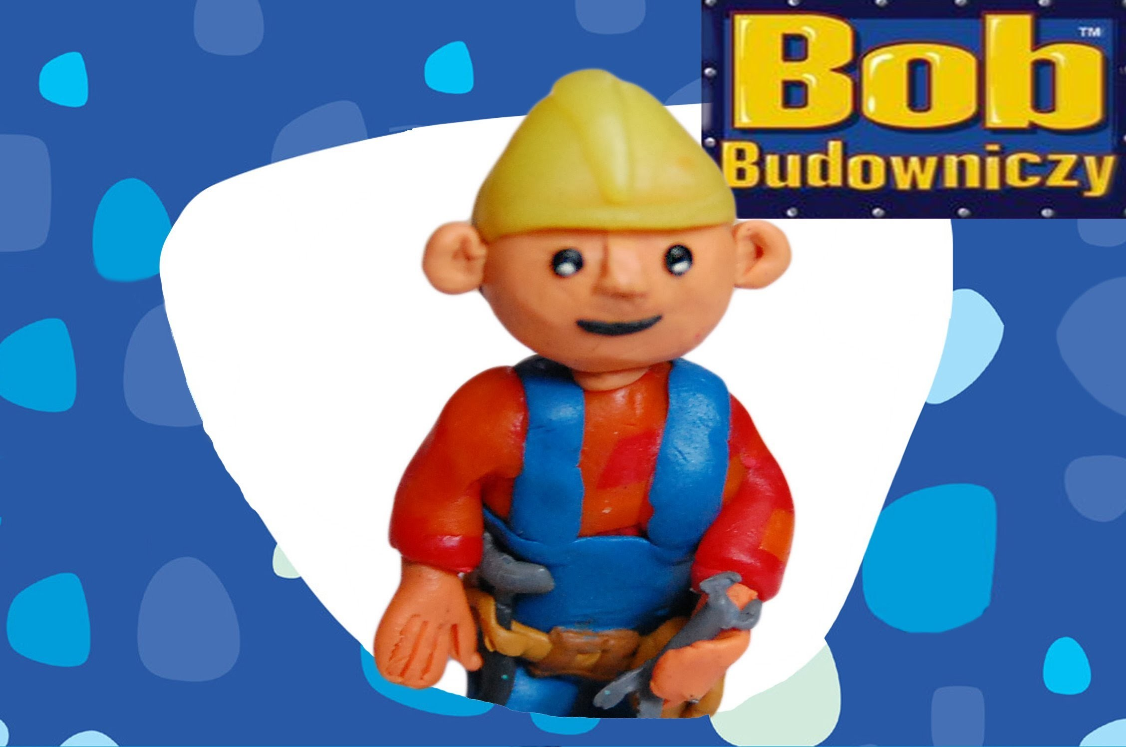 Lepiołki:Bob Budowniczy TUTORIAL, made hand , polymer clay, Bob the Builder