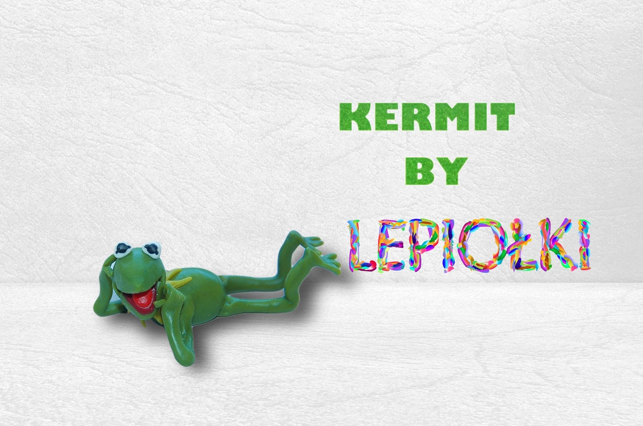 Lepiołki:Kermit TUTORiAL polymer clay, hand made, made hand