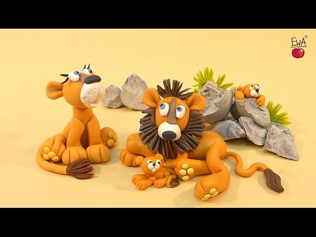 "LET""S CLAY! Lew - lion - tutorial - polymer clay"