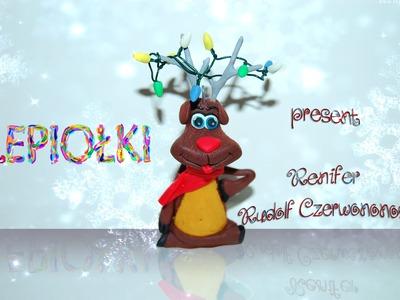 Na święta: Renifer  TUTORIAL reindeer polymer clay made hand lepiołki