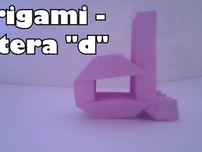 "Origami - Litera ""d"""
