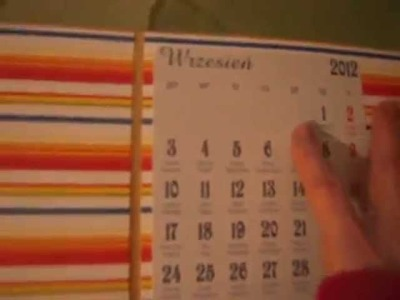 Scrapbooking- scrapoalbum-kalendarz- Jadwiga Kluczyńska