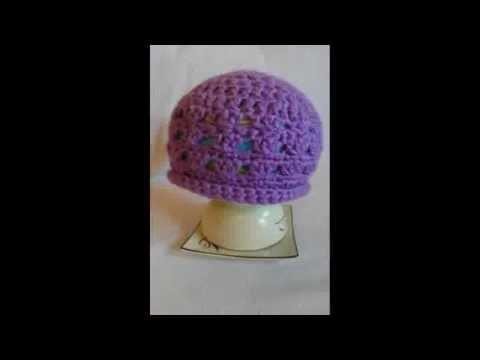 Ażurowa czapka na szydełku. simple crochet beanie. szydełkowa czapeczka