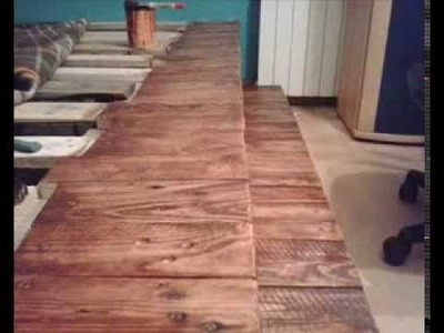 Łóżko ze starych palet. DIY Pallet wood