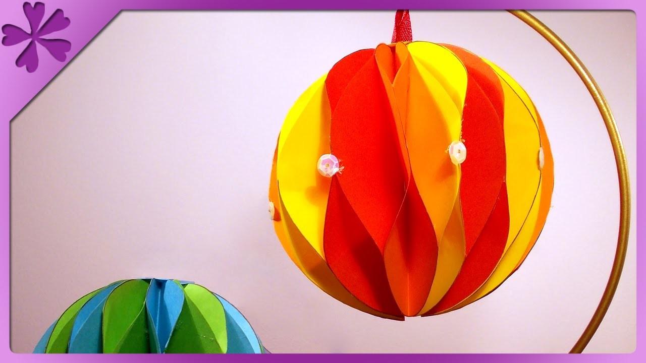 DIY Bombki z papieru. Paper Christmas balls (+ENG Annotations) - Na szybko #40