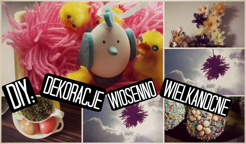 DIY: Dekoracje wiosenno-świąteczne+babczeczki. DIY:Spring.Easter room decorations | cammilla345