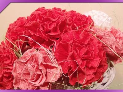 DIY Goździki z bibuły. Tissue paper carnations (+ENG Annotations) - Na szybko #21