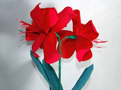 DIY paper flowers - amaryllis Цветы из бумаги