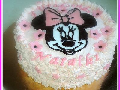 How to make MINNIE MOUSE cake. tort z Myszką Minnie