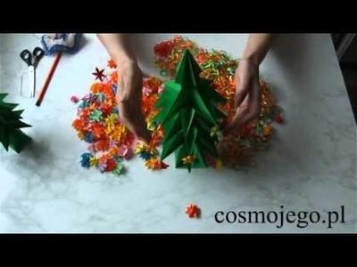 Jak ubierać choinkę origami - ozdoby świąteczne