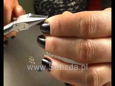 Jak własnoręcznie wykonać kolczyki srebrne z rurki i kamienia TURKUS (www.Sebzda.pl)