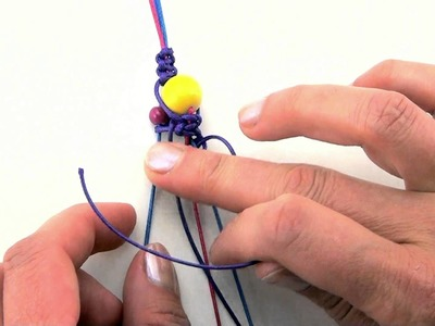 Jak zrobić - bransoletka makrama (shamballa) - kurs biżuterii krok po kroku