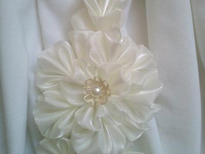 Kanzashi petals wachlarzowy z dziobkiem