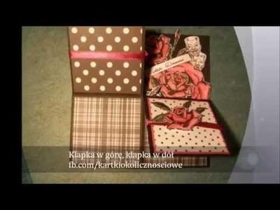 Kartka z życzeniami i pudełko transformers. Scrapbooking