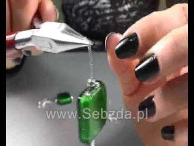 Kolczyki ze szkła weneckiego, zielone (www.Sebzda.pl)