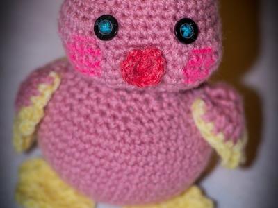 Kurczaczek na szydełku- maskotka. Chicklets crochet- mascot