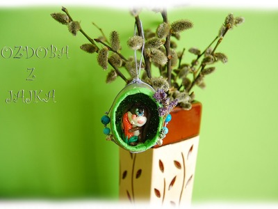 Lepiołki: Ozdoba z jajka, Easter decoration TUTORIAL polymer clay, made hand, hand made