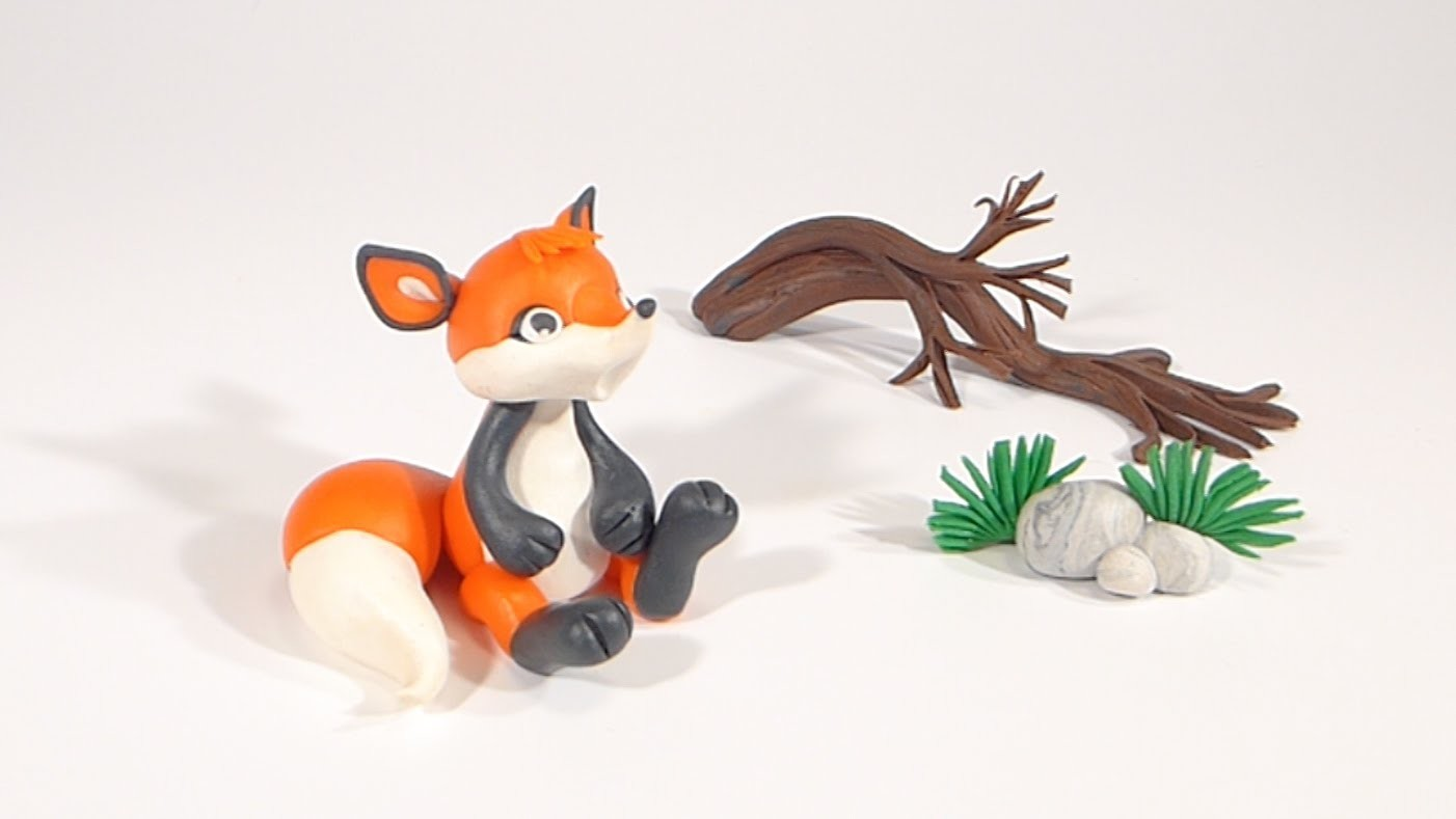 LET'S CLAY! FOX polymer clay tutorial - LISEK z modeliny