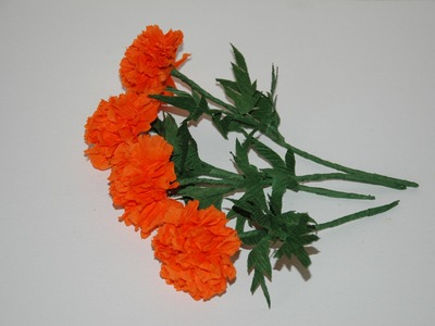 Making flowers with paper - Marigolds. Kwiaty z bibuły 2 DIY