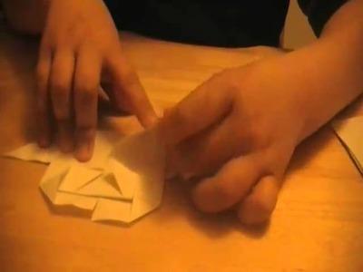 Origami serce pełne miłości