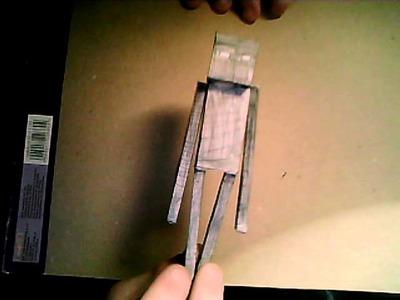 Pierwszy Enderman z papieru (papercraft)