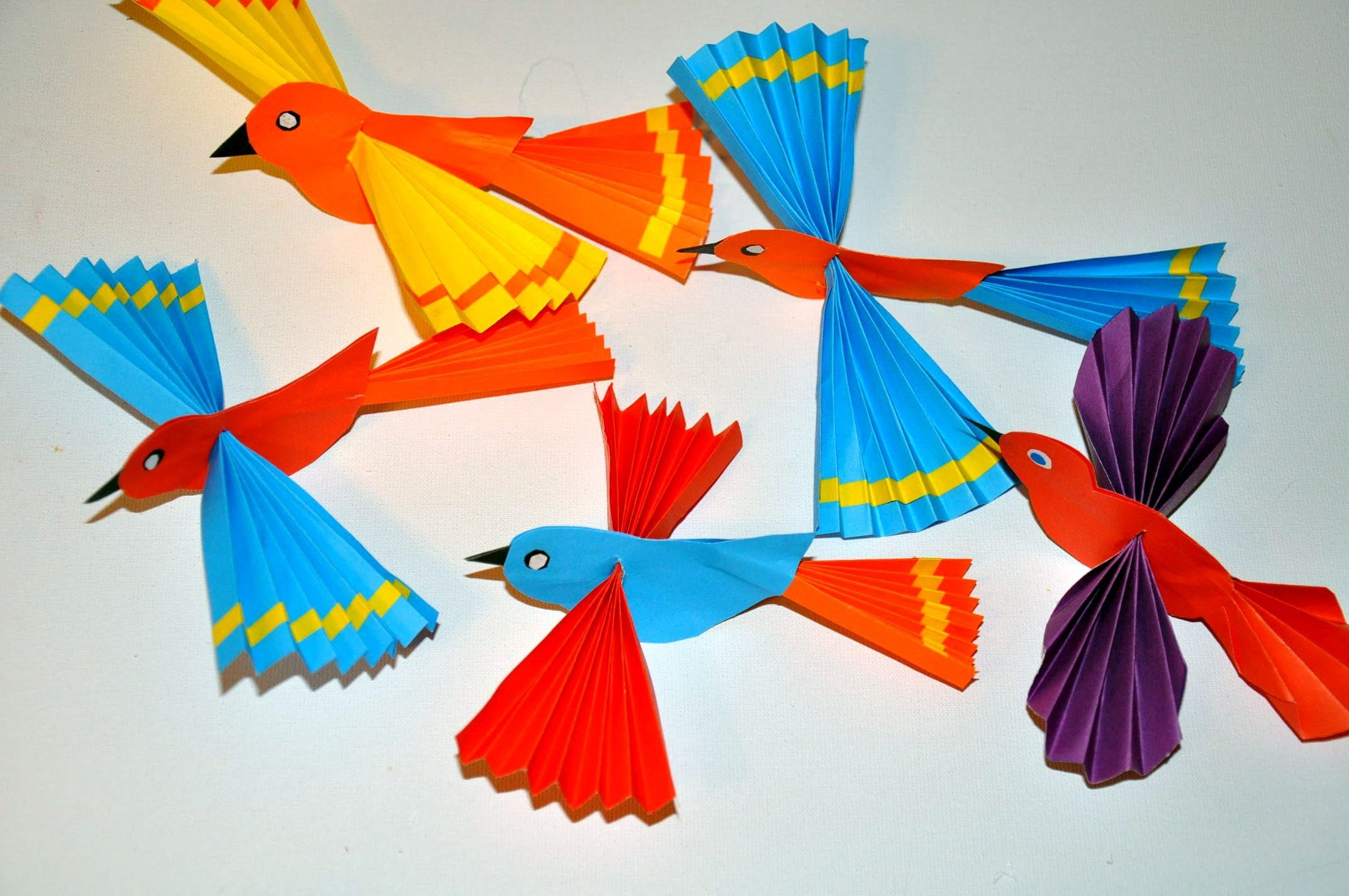 Ptaki z papieru  Paper birds DIY