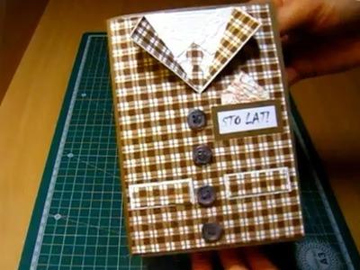 Scrapbooking, kartka rodzinowa, imieninowa dla mężczyzny. (www.facebook.com.Pasjania)