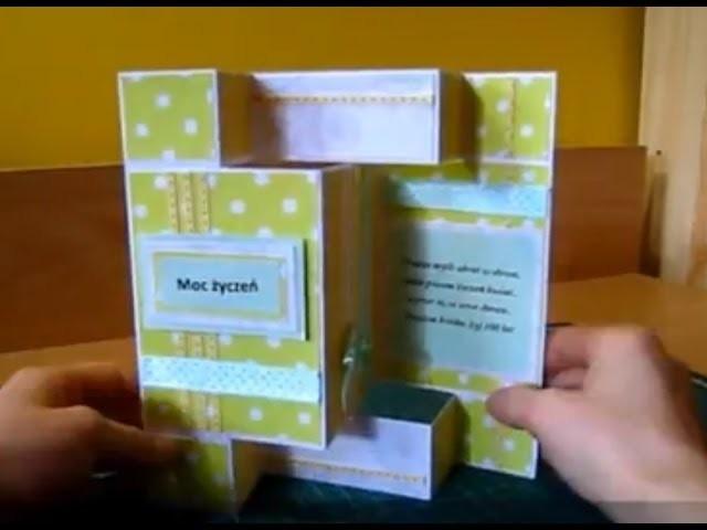 Zobacz jak zrobić przestrzenną kartkę urodzinową, imieninową - scrapbooking.