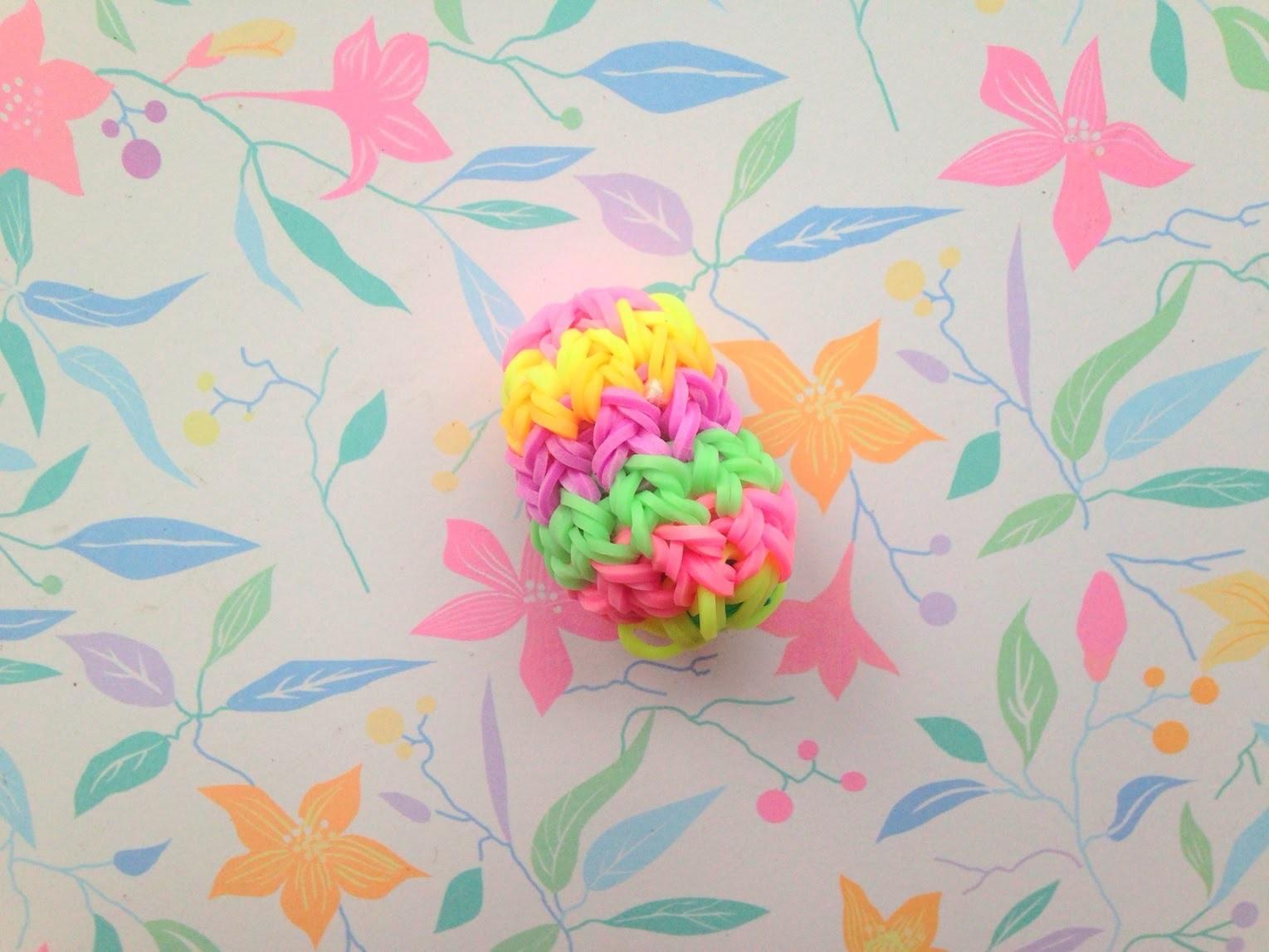 Pisanka 3D z gumek - Tutorial Rainbow Loom