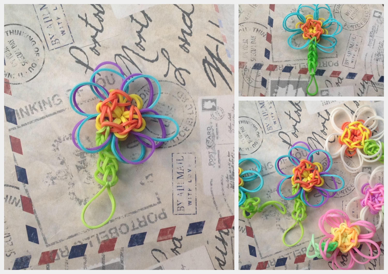 Tutorial na Kwiatka z Rainbow Loom