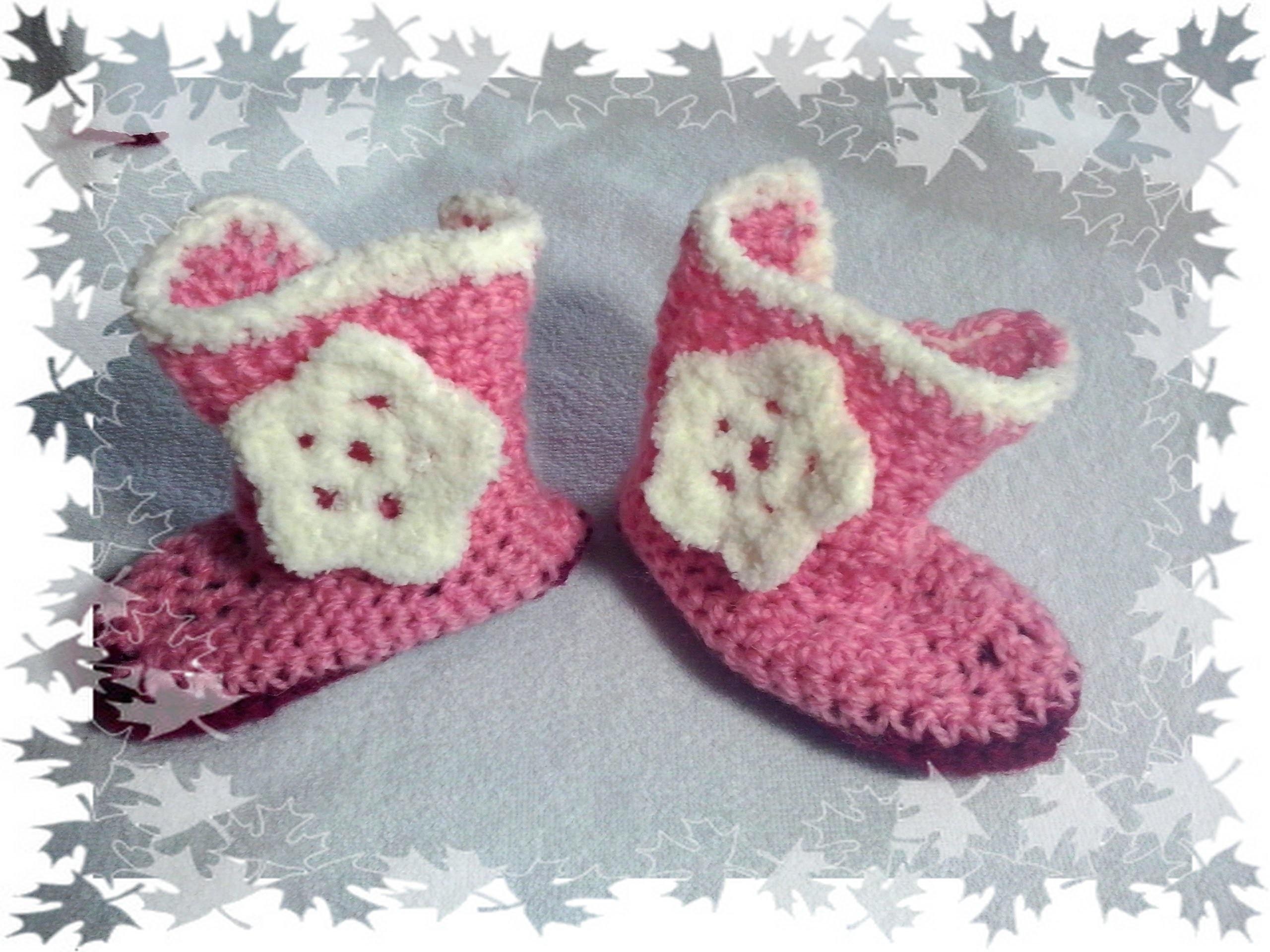 Kozaczki buty na szydełku. crochet boots