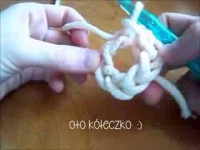 Dzieje się - nauka szydełkowania # 1 - łańcuszek i kółko