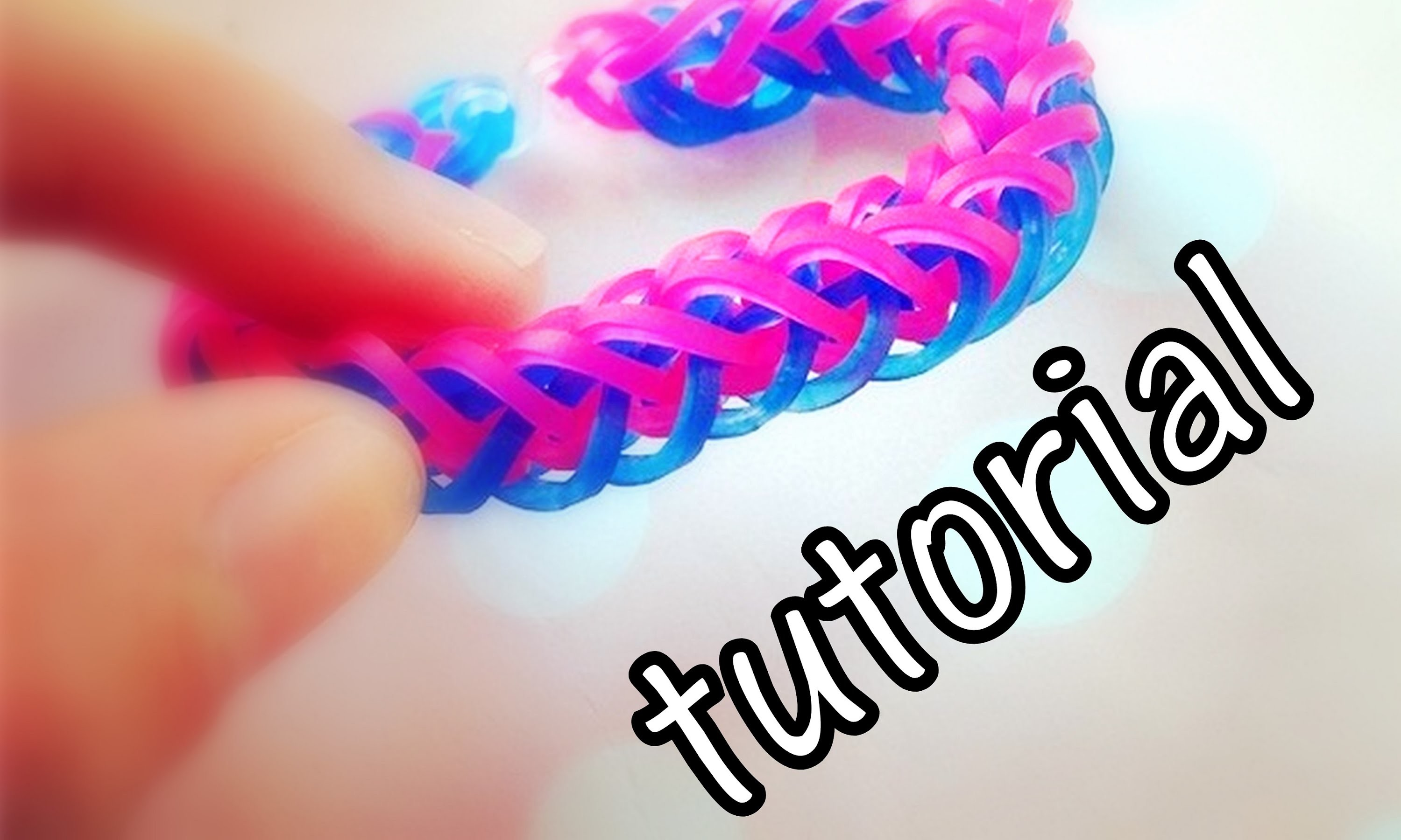 Tutorial - bransoletka warkocz (french braid) - Rainbow Loom