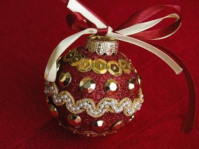 Jak zrobić bombkę.  Christmas ball  DIY