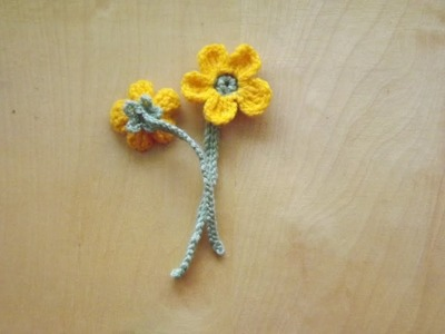 Kwiat jaskier -  szydełkowanie bez tajemnic
