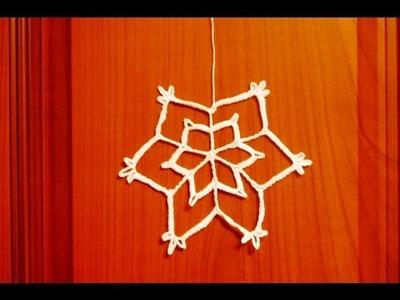 Gwiazdka(śnieżynka) na szydełku