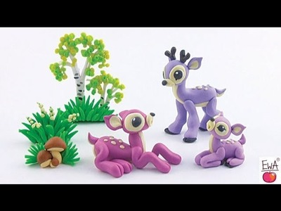 LET'S CLAY! Deer tutorial - sarenka z modeliny