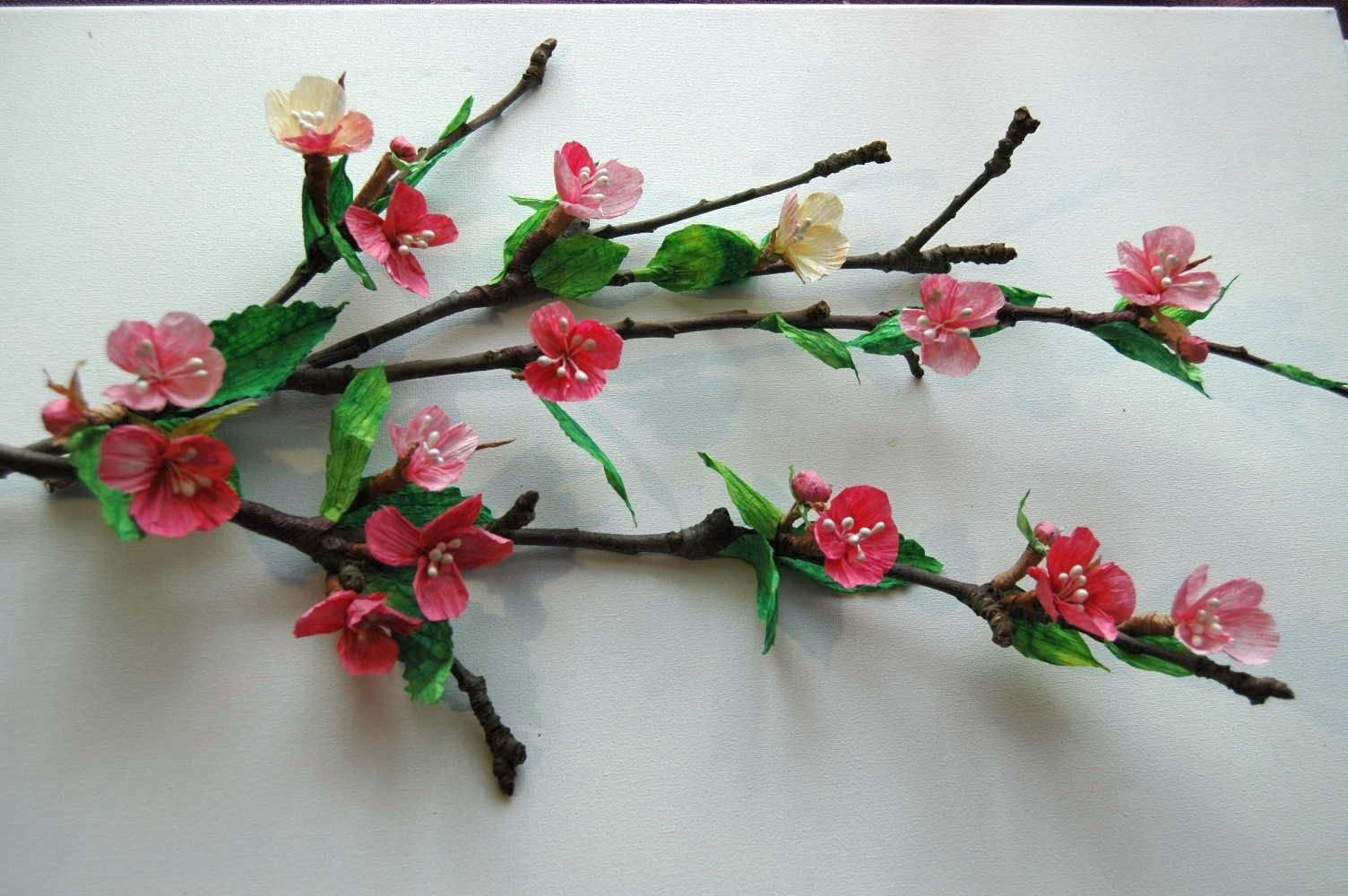 Twist Art flowers # Kwiaty z papieru   kwitnąca jabłoń  DIY