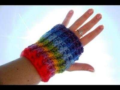 Mitenki - rękawiczki na szydełku