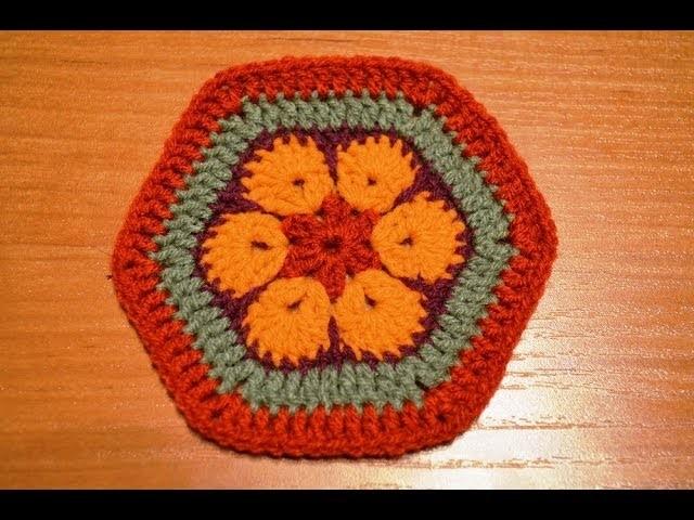 African flower heksagon - Afrykanski kwiat o kształcie sześcioboku