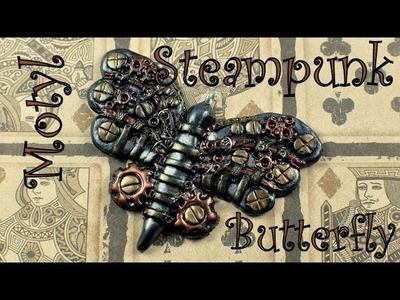 Steampunk charm: butterfly. motyl [TUTORIAL]