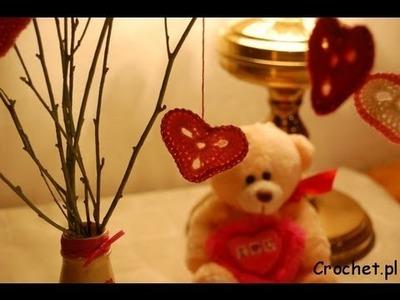 Walentynkowe serduszko na szydełku - jak zrobić
