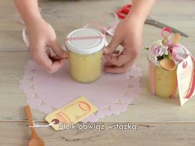 Dekorowanie słoików z przetworami. Home made jam decorating jar