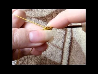 Maranta i szydełko - podwójny łańcuszek z narzutem