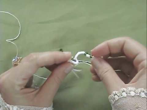 Needle tatting - lesson 2 - Kurs Frywolitkowy - lekcja 2